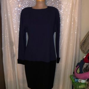 Ellen Tracy 100% Wool dress size 8.